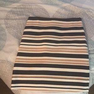Loft Striped Aline skirt